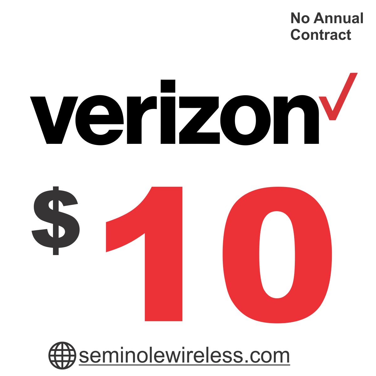 $10 Verizon Prepaid Add-On